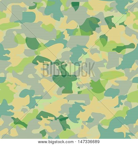 Camouflage seamless stained pattern. Military background.Vector illustration .