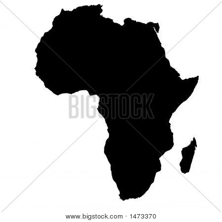 Bw Map Of Africa
