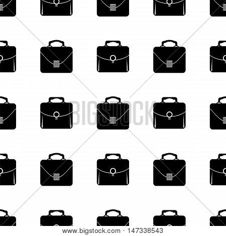 Bag Silhouette Seamless Pattern on White.  Briefcase Background