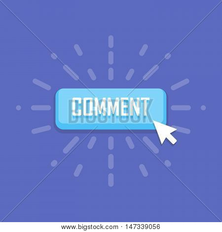 Comment button template. Vector design. Business banner with symbol icon.
