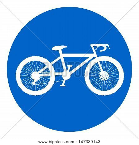 Bike button on white background. Vector illustration.
