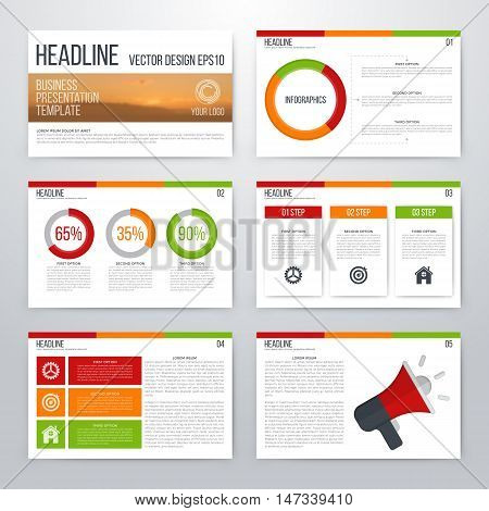 Set of infographic elements. Presentation template. Book cover design. Vector illustration