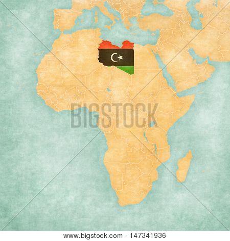 Map Of Africa - Libya