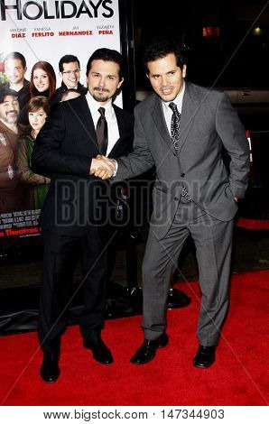 John Leguizamo and Freddy Rodriguez at the Los Angeles premiere of 'Nothing Like The Holidays' held at the Grauman's Chinese Theater in Hollywood, USA on December 3, 2008.