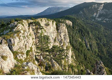 rock mountain cliff in Durmitor Park, Montenegro