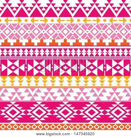 Seamless Navajo print, Aztec pattern, Tribal design