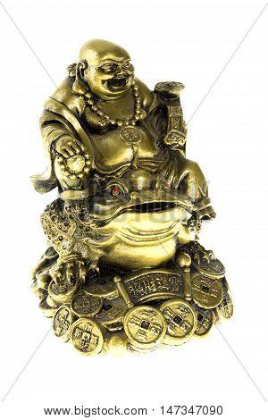 Laughing Buddha , isolated on white background.