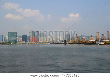 view from Hoi Sham Park of harbour