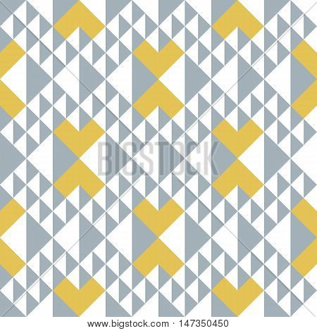 Geometric Abstract Seamless Pattern. Triangle Motif Background. Simple Decoration Design
