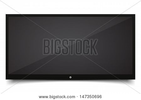 Smart TV Mock-up Vector TV Screen LED TV hanging on the wall. Vector illustration EPS10