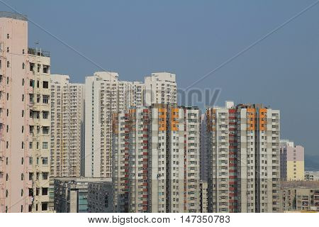 the apartment block in kowloon Hong Kong