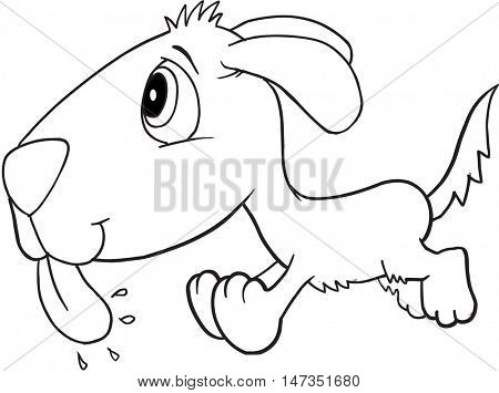 Cute Doodle Dog Vector Illustration Art