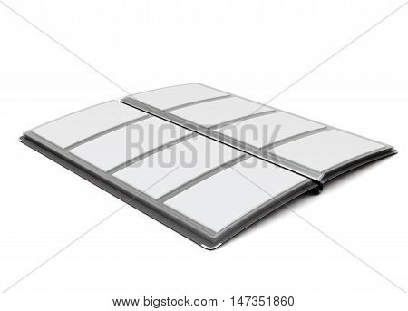 Business Card Holder On A White. 3D Rendering.