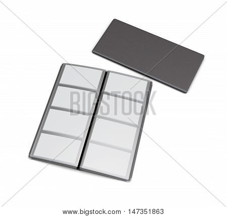 Business Card Holder Isolated On White Background. 3D Rendering.