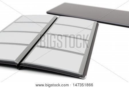 Card Holder Isolated On White Background. 3D Rendering.