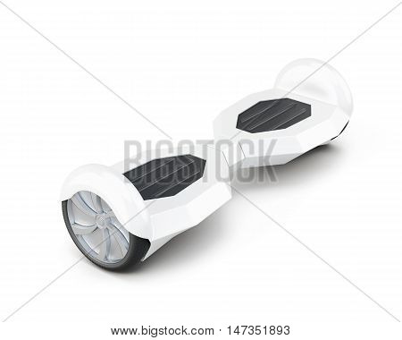 Gyro Scooter Isolated On A White Background.3D Rendering.
