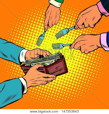 Corruption and theft of money, pop art retro vector illustration
