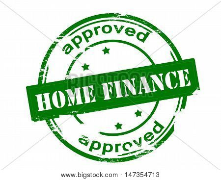 Rubber stamp with text home finance approved inside vector illustration