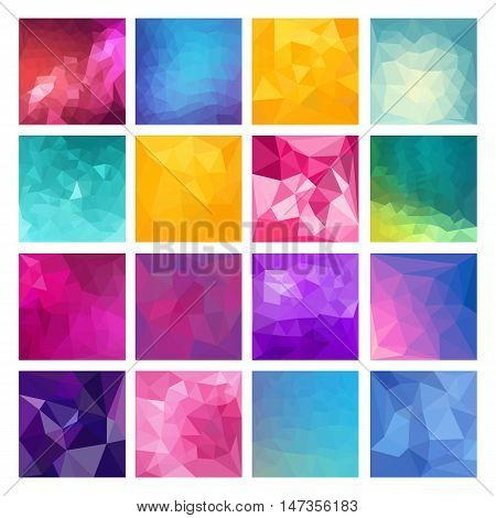 Polygonal vector design. Modern geometric background. Vector Illustration