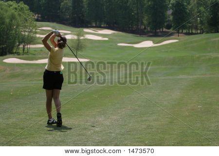 Lady Golf Swing