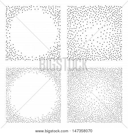 Abstract Dot work Backgrounds. Halftone Vector Illustration.