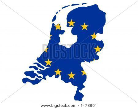 Map Of Netherlands poster