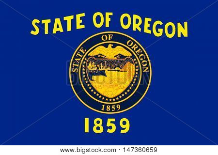 Flag of Oregon is a state of United States