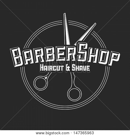 hair salon vector labels in vintage style. Hair cut beauty and barber shop. Design elements isolated on white background.