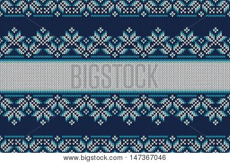 Traditional Fair Isle Style Seamless Knitted Pattern. Christmas And New Year Design Knitting Backgro