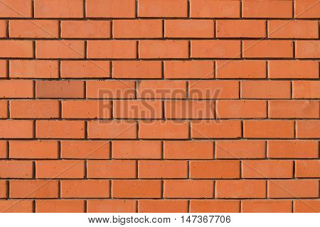 Background of brick wall of red brick