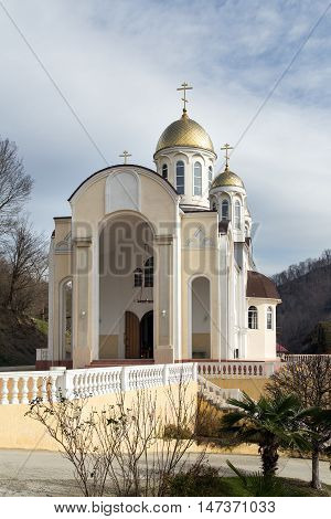 Church of Kazan icon of Our Lady in Dagomys, suburb of Sochi, South Russia