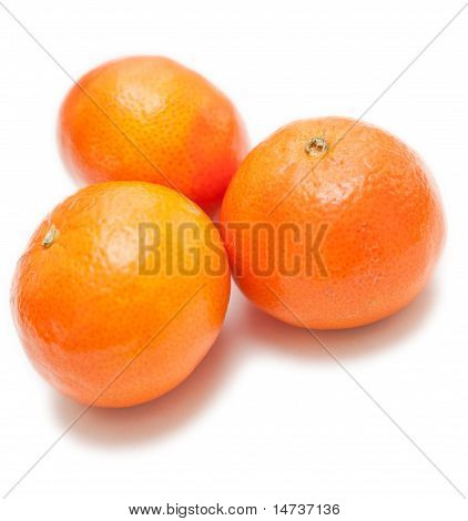 Clementines On White Background