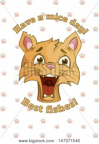 have a nice day and best wishes vector hand-drawn card template