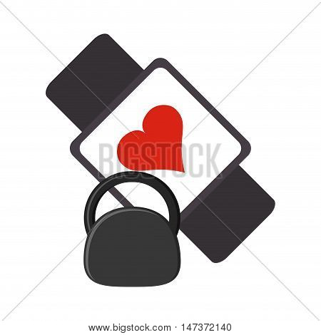 flat design heart rate wrist monitor and kettlebell  icon vector illustration