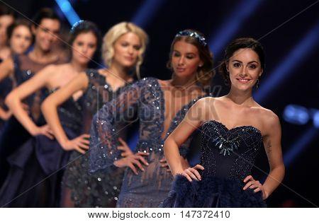 Sofia Fashion Week Female Models Smiling