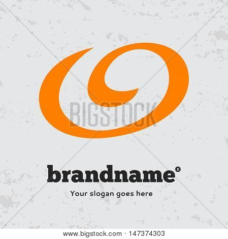 Abstract twist form logo design vector template. Symbol concept icon.