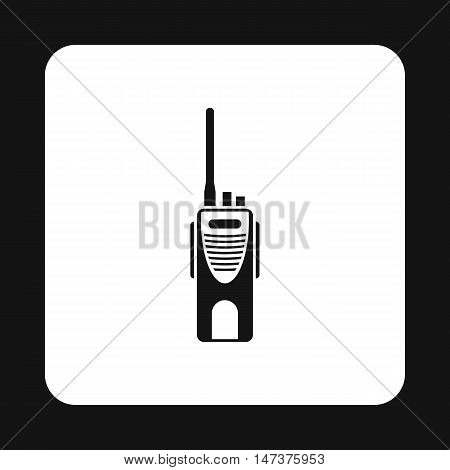 Radio transmitter icon in simple style isolated on white background. Device symbol vector illustration