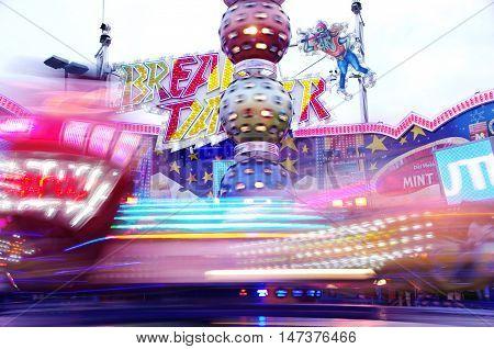 Frankfurt, Germany - September 15: Jump and Smile ride in Frankfurter Dippemess in 2016
