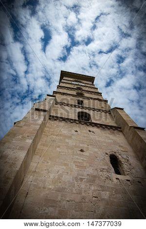 old Alba Iulia citadel tower in Alba Iulia, Romania