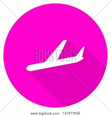 arrivals flat pink icon