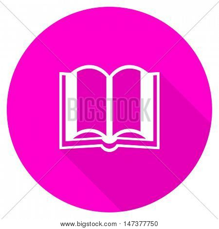 book flat pink icon