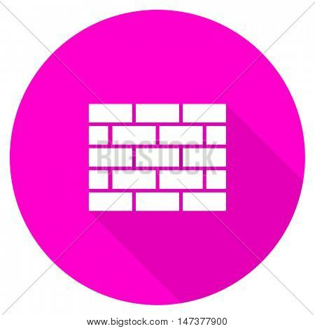 firewall flat pink icon