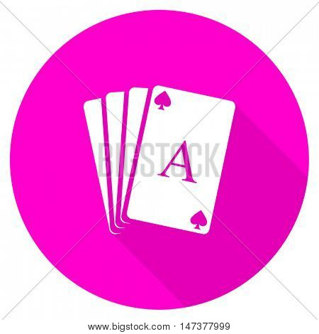 card flat pink icon