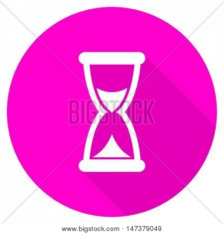 time flat pink icon