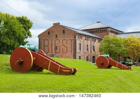 OSLO, NORWAY - AUGUST 27, 2016: The Norwegian Armed Forces Museum in Oslo