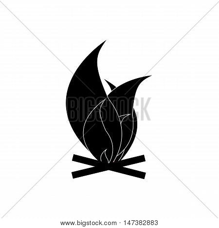 Fire icon in simple style isolated on white background. Heat symbol vector illustration