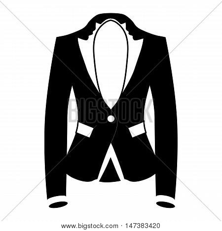 Womens blazer icon in simple style isolated on white background. Clothing symbol vector illustration