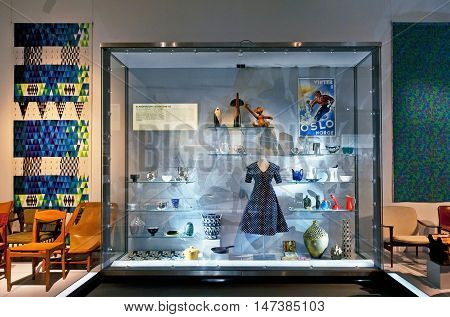 OSLO, NORWAY - AUGUST 28, 2016: Scandinavian Design 1945 - 55 in The Museum of Decorative Arts and Design in Oslo.