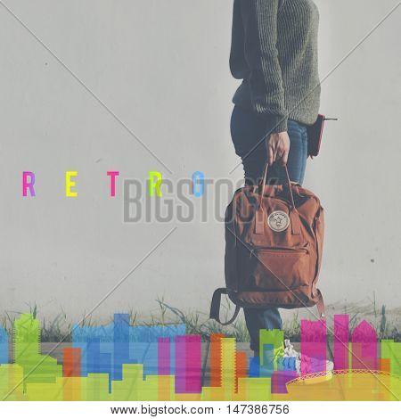 Hipster Chill Cityscape Urban Graphic Concept