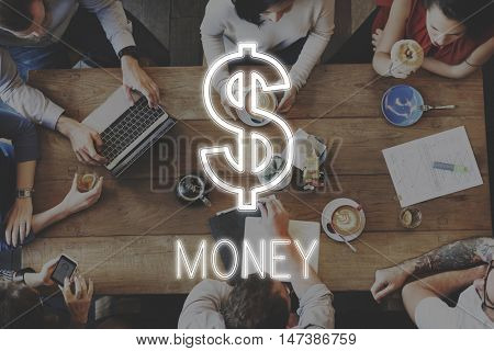 Saving Cash Flow Accounting Money Icon Concept